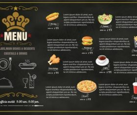 Restaurant Foods menu vector