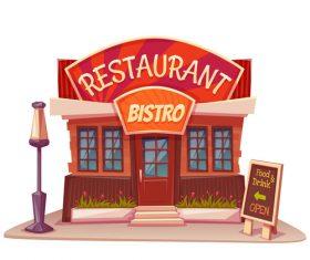 Restaurant cartoon vector
