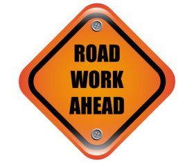 Road work ahead sign design vector