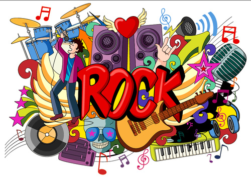 Rock boy illustration vectors