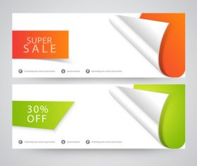 Roll angle sale banner vector