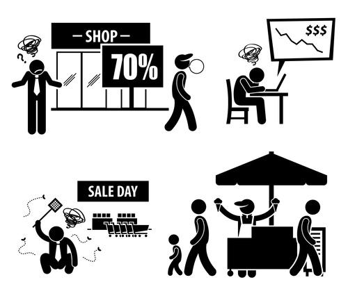 Sale day discount cartoon icon vector