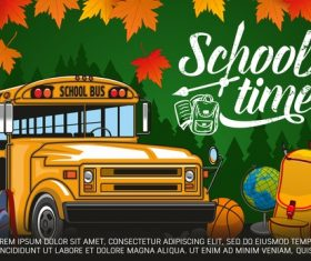 School bus background vectors