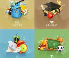 School comprehensive education vector