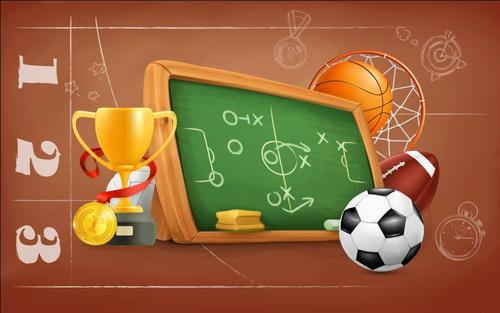 School football match vector