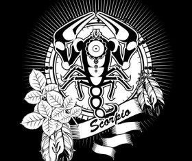 Silhouette Scorpio Zodiac sign vector
