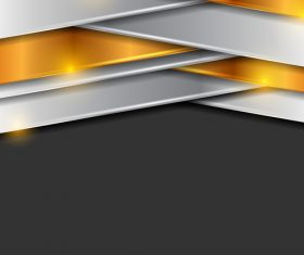 Silver bronze black tech background vector