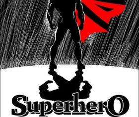 Sketch Superhero cartoon cover vector