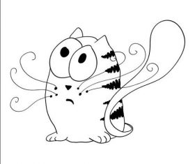 Sketch cat vectors