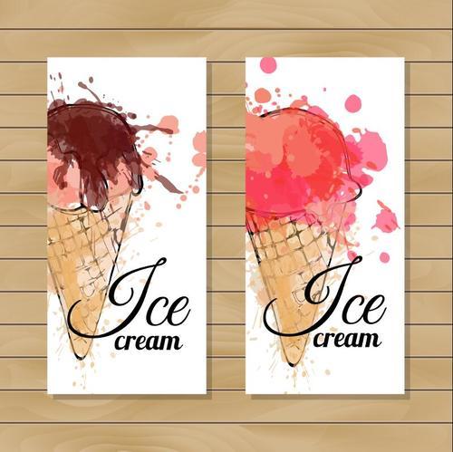 Sketch cream ice cream vector