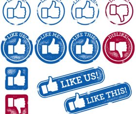Social Thumbs vectors