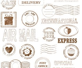 Special delivery stamp vectors