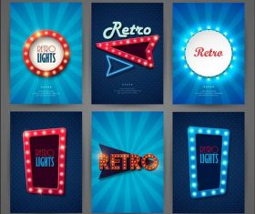 Square and round lights vector