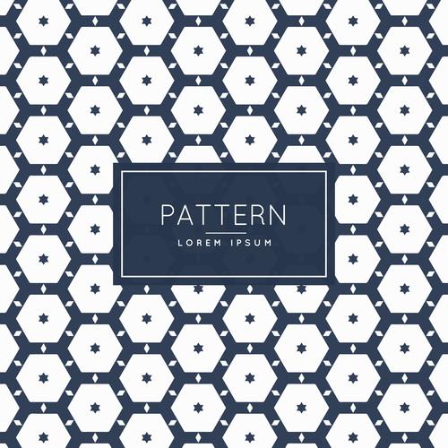 Star background creative pattern vector