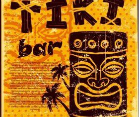 Statue Tiki poster vector