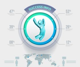 Success info Infographics element Vector