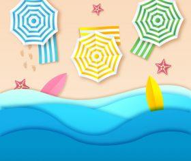 Summer beach holiady cartoon styles vector design 08