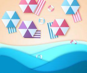 Summer beach holiady cartoon styles vector design 09
