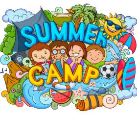 Summer childrens outing illustration vectors