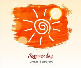 Summer day watercolor splash vector