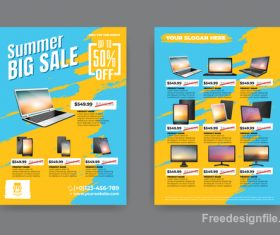 Summer electronic product sale flyer vector 01