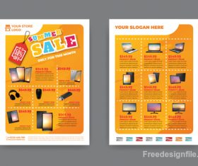 Summer electronic product sale flyer vector 03