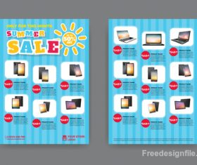 Summer electronic product sale flyer vector 05