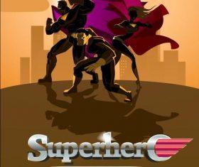 Superhero team cartoon cover vector
