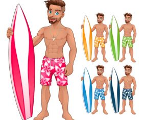 Surfer Boy vectors