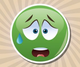 Sweat emoticon icon vector
