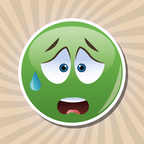 Sweat emoticon icon vector