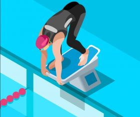 Swimming 3D Vector