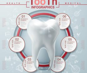 Teeth Infographic Template Design vector