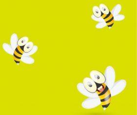Three little bees vectors