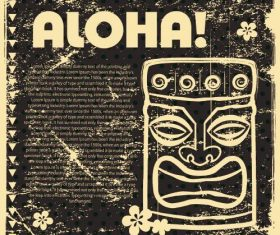 Tiki cover poster vector