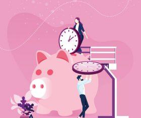 Time management planning Save time Concept vectors