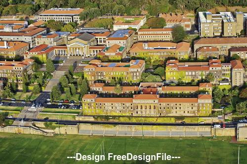 Town Landscape Stock Photo
