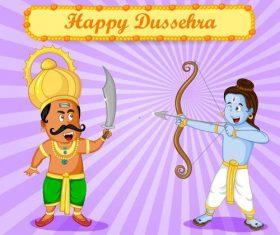 Traditional religious festival Dussehra vectors