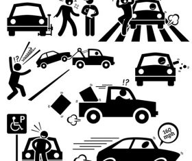 Traffic accident icon vector