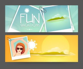 Travel and photo banners vector