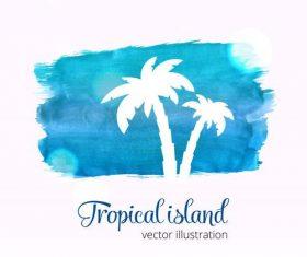 Tree watercolor splash illustration vector