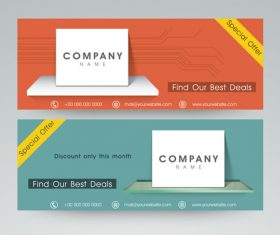 Two-color Website Header and Banner vector
