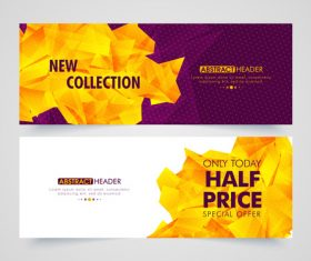 Two-color sale banner vector
