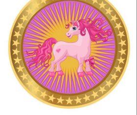 Unicorn cartoon cover vectors