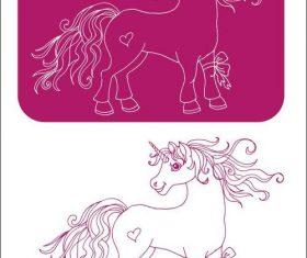 Unicorn sketch illustration vectors