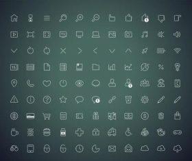 Universal icon vector