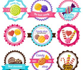 Various Candy Stickers vector