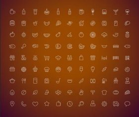 Various food icons vector