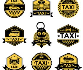 Various taxi tags vector