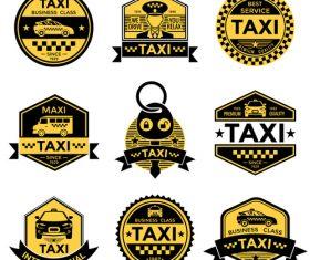 Various taxi tags vector